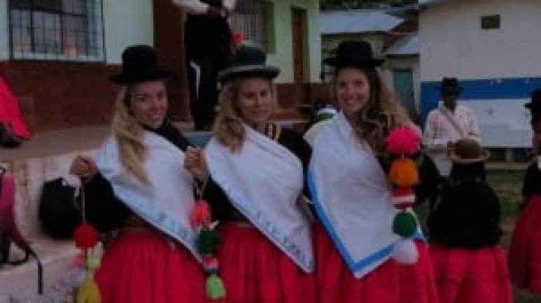 dressing in traditional lake titicaca garb