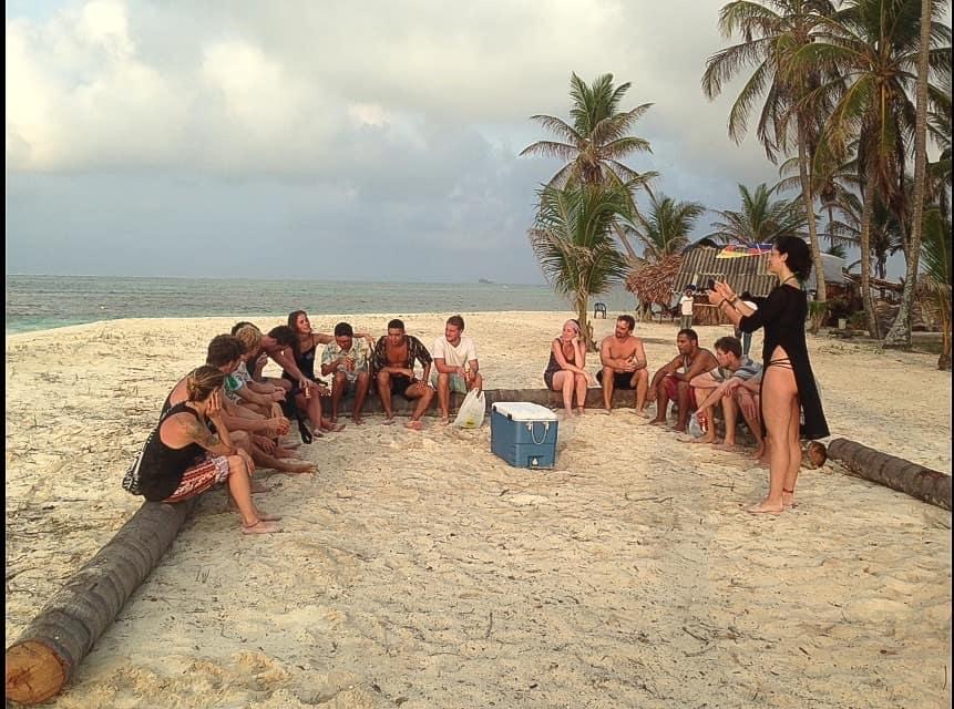 Enjoying drinks with the Kona Tribe