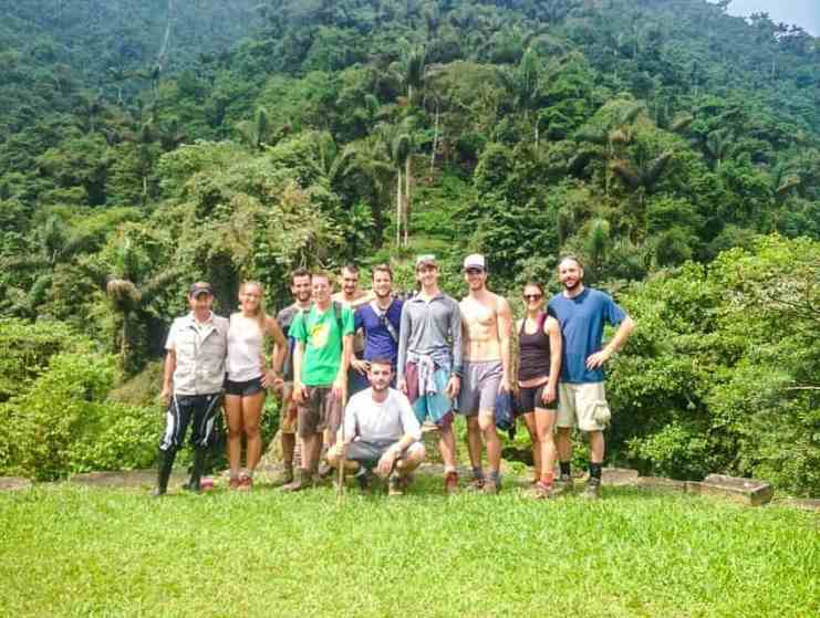 hiking group at the ciudad perdida trek