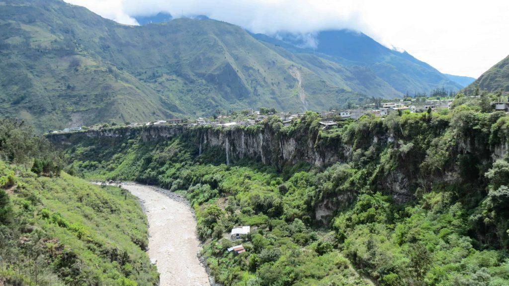 A view of the Rio Pastaza in banos ecuador