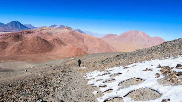 Lascar Volcano climbing path