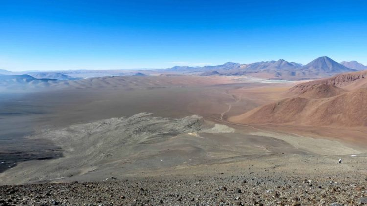 View of the Altiplano and Atacama desert