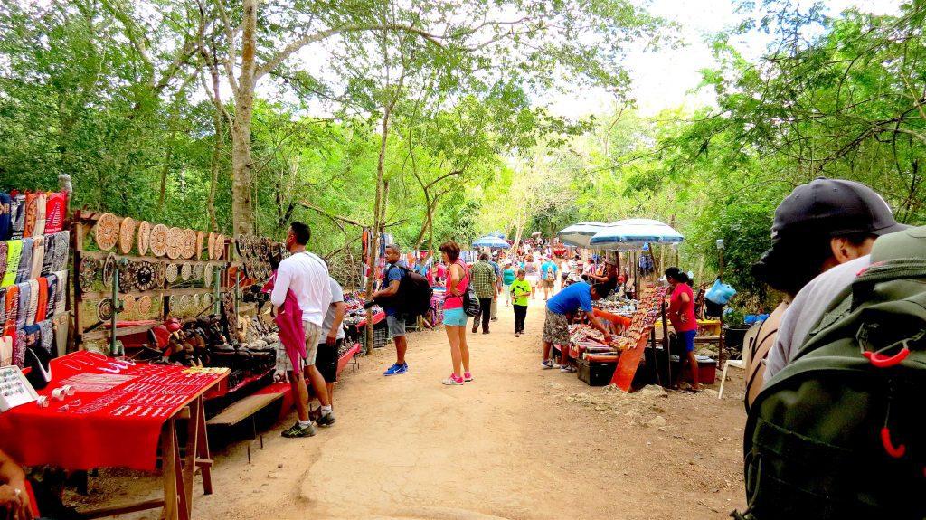 Vendors in Chichen Itza