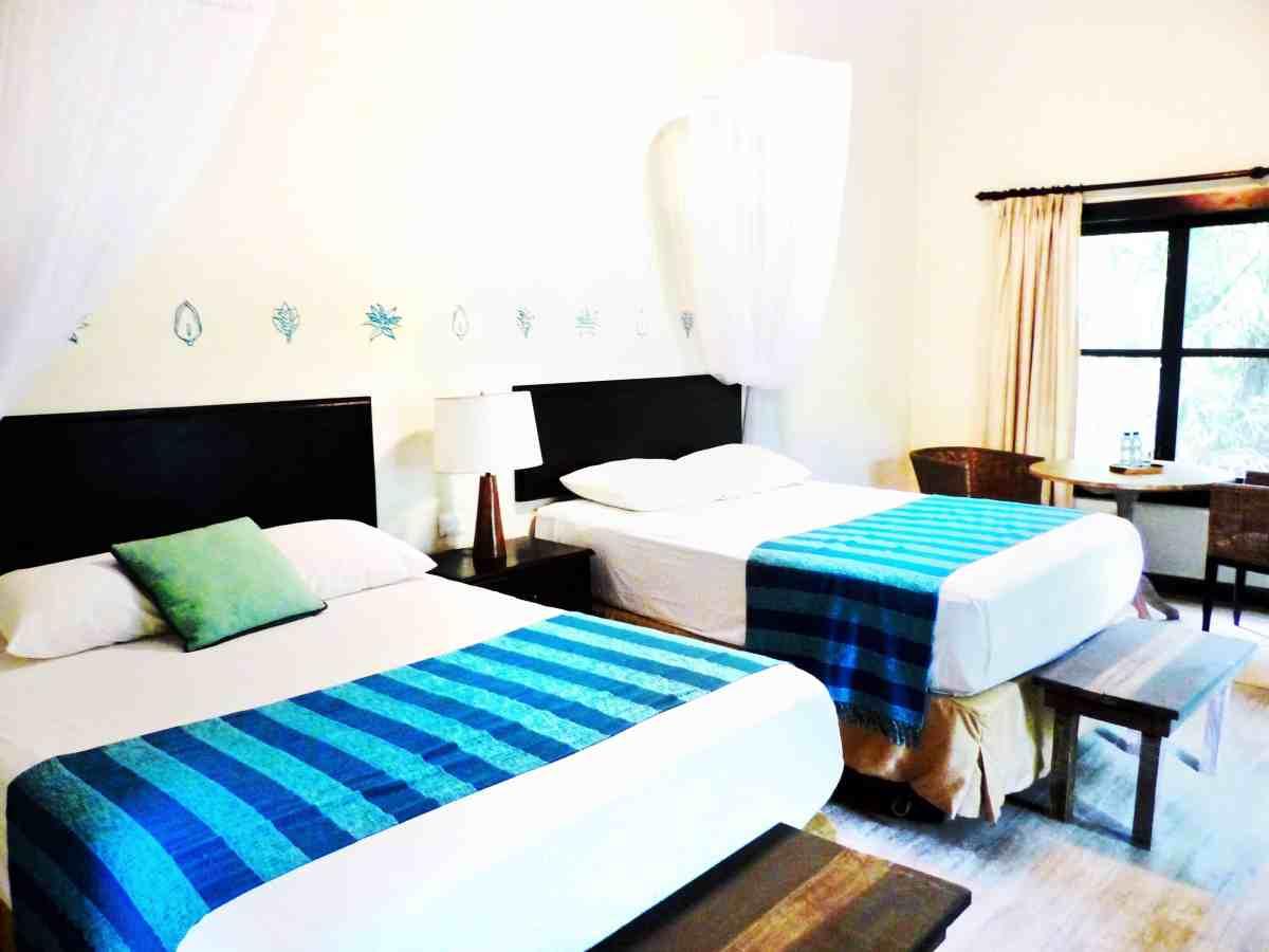 the rooms at jungle lodge hotel tikal