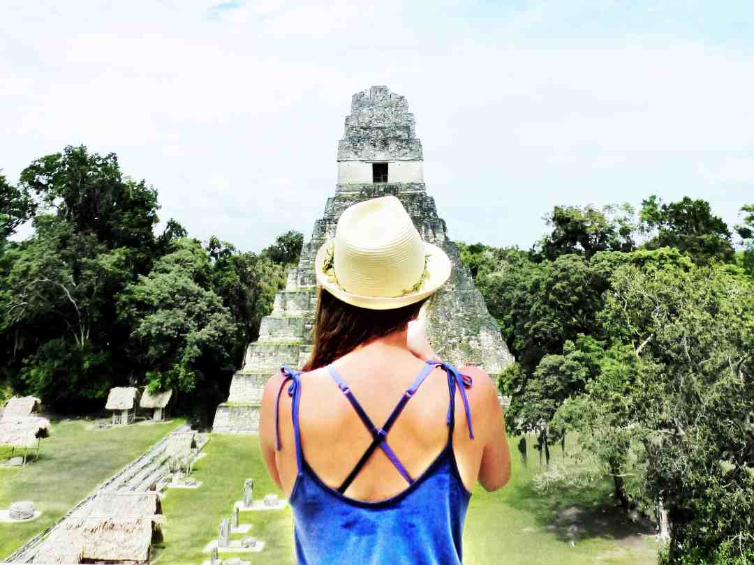 Standing at the ruins of Tikal