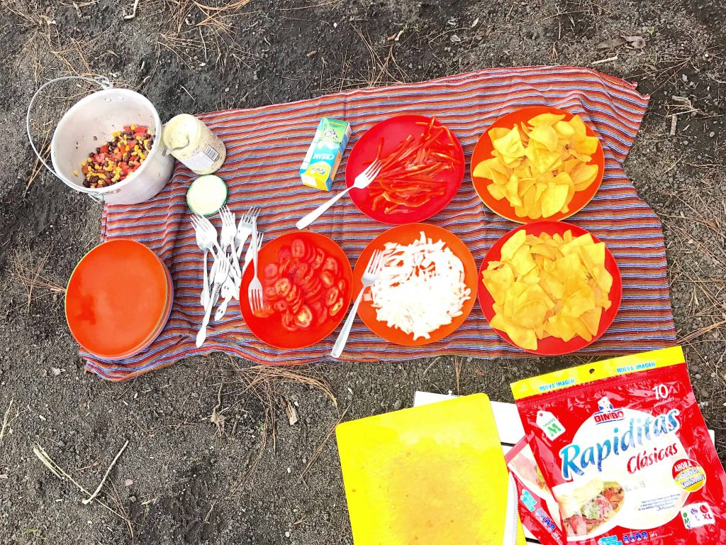 lunch provided by old town outfitters on acatenango climb
