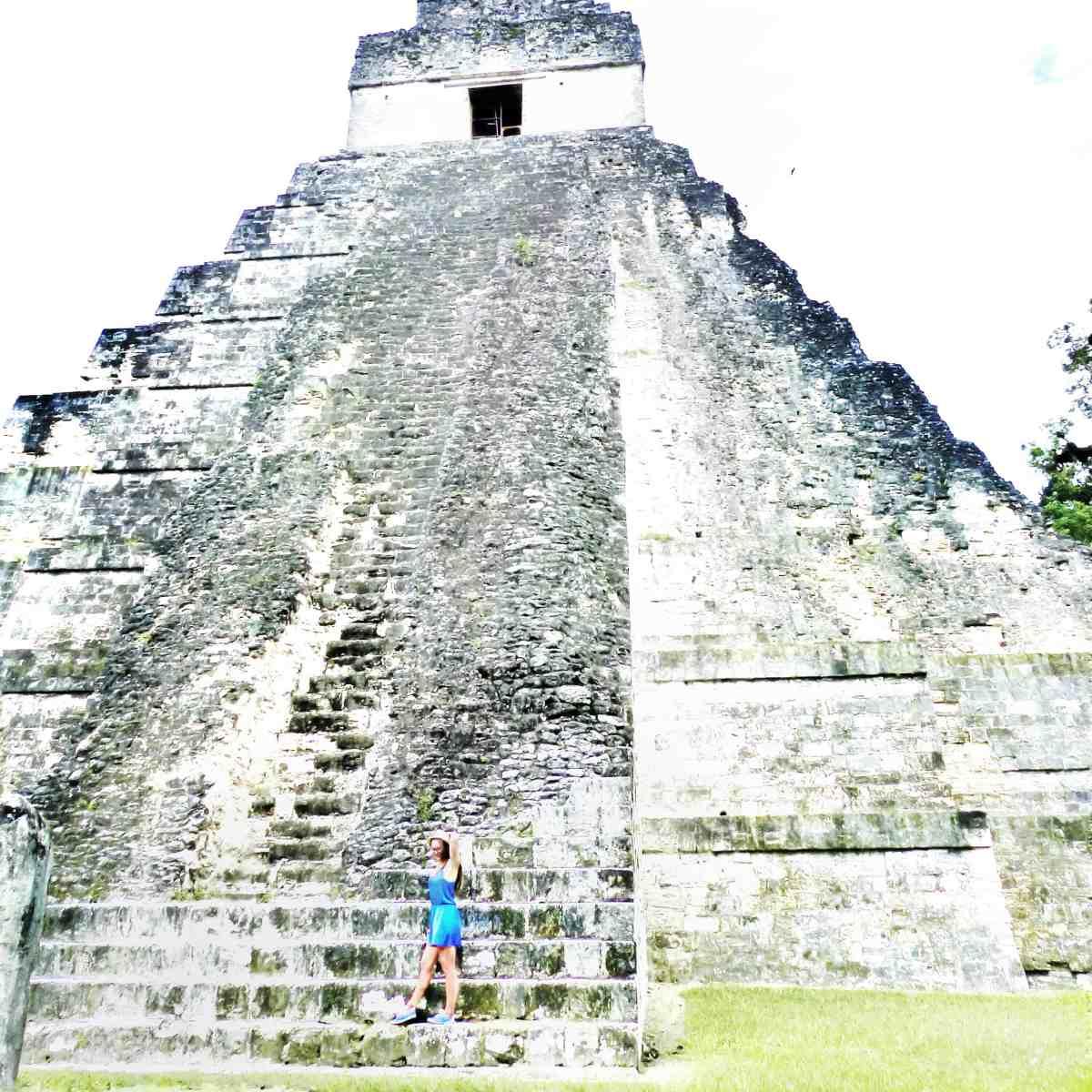 walking across the ruins of Tikal