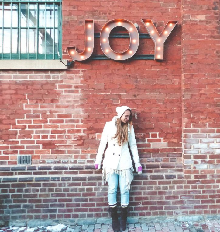 Toronto Christmas Market Joy Sign one of the best christmas events in ontario