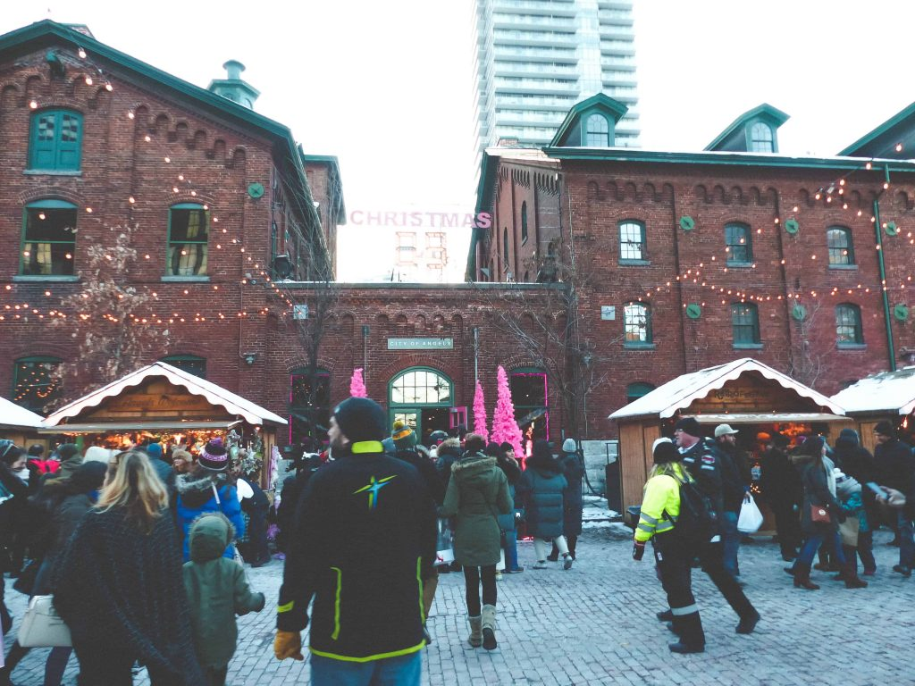 Countdown at the Toronto Christmas Market