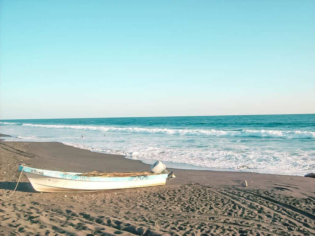The Black sand beaches of monterrico guatemala