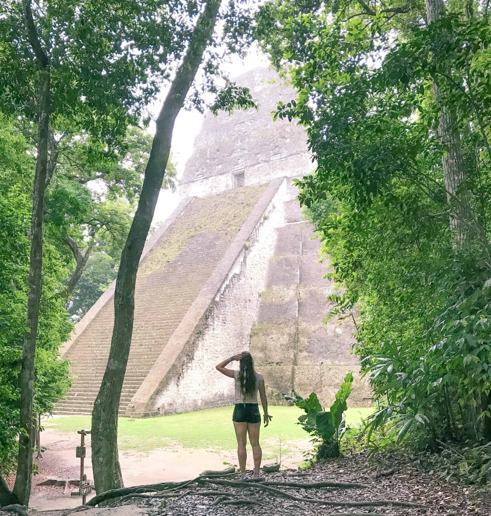 exploring the ruins of Tikal