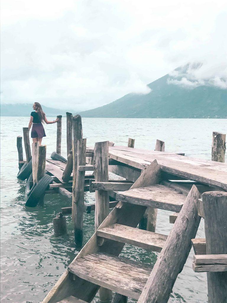 a typical dock at lake atitlan