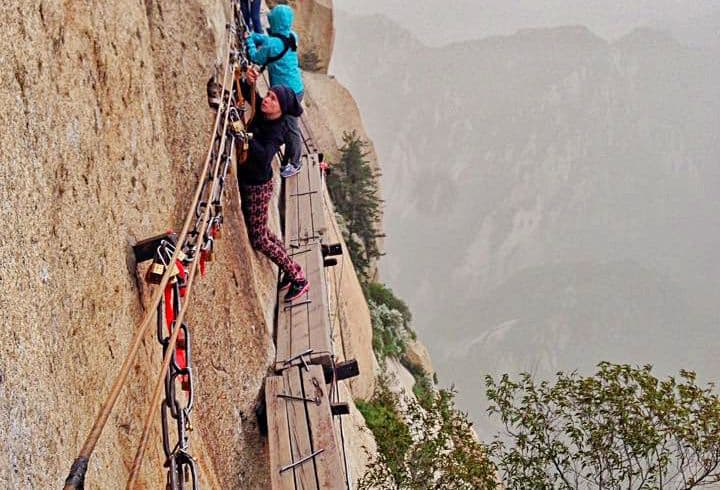 Hiking and climbing in HuaShan China