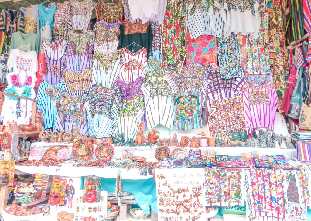 textiles for sale outside of tikal