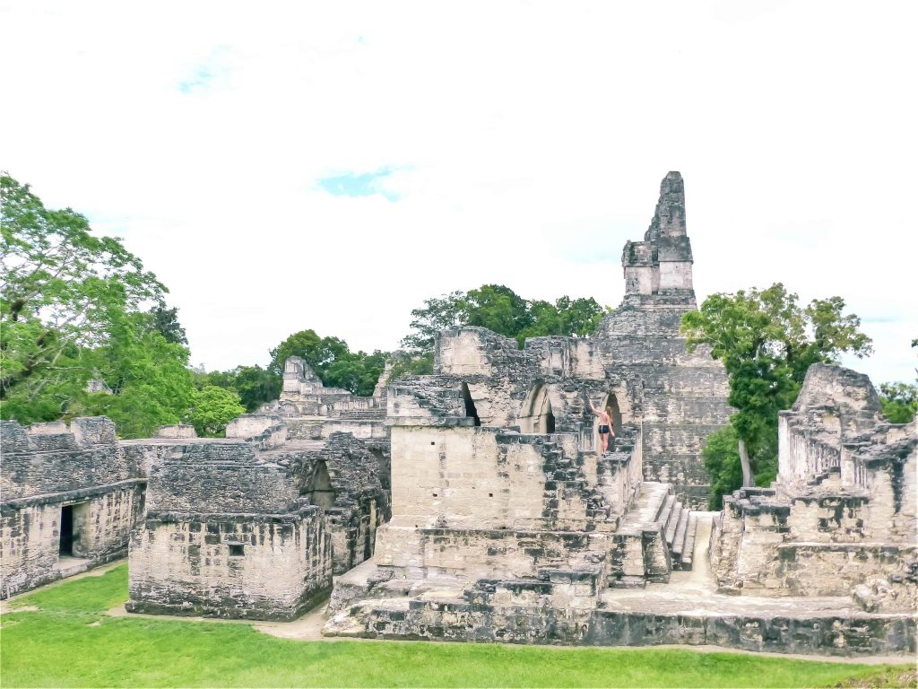 a beautiful view of the ruins of tikal