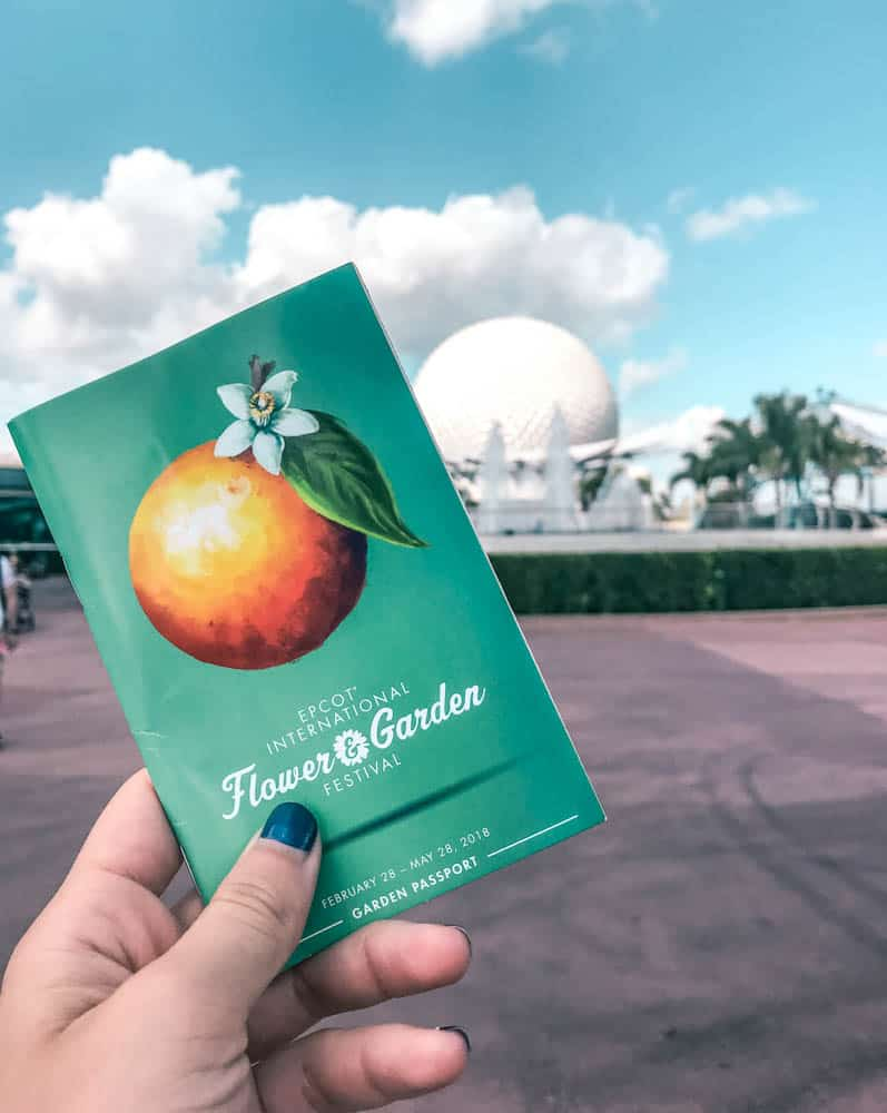 Epcot Flower and garden festival passport for food and events