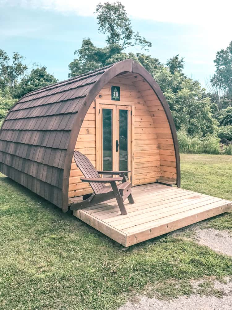 camping pods at Long Point Eco Adventures in southern Ontario