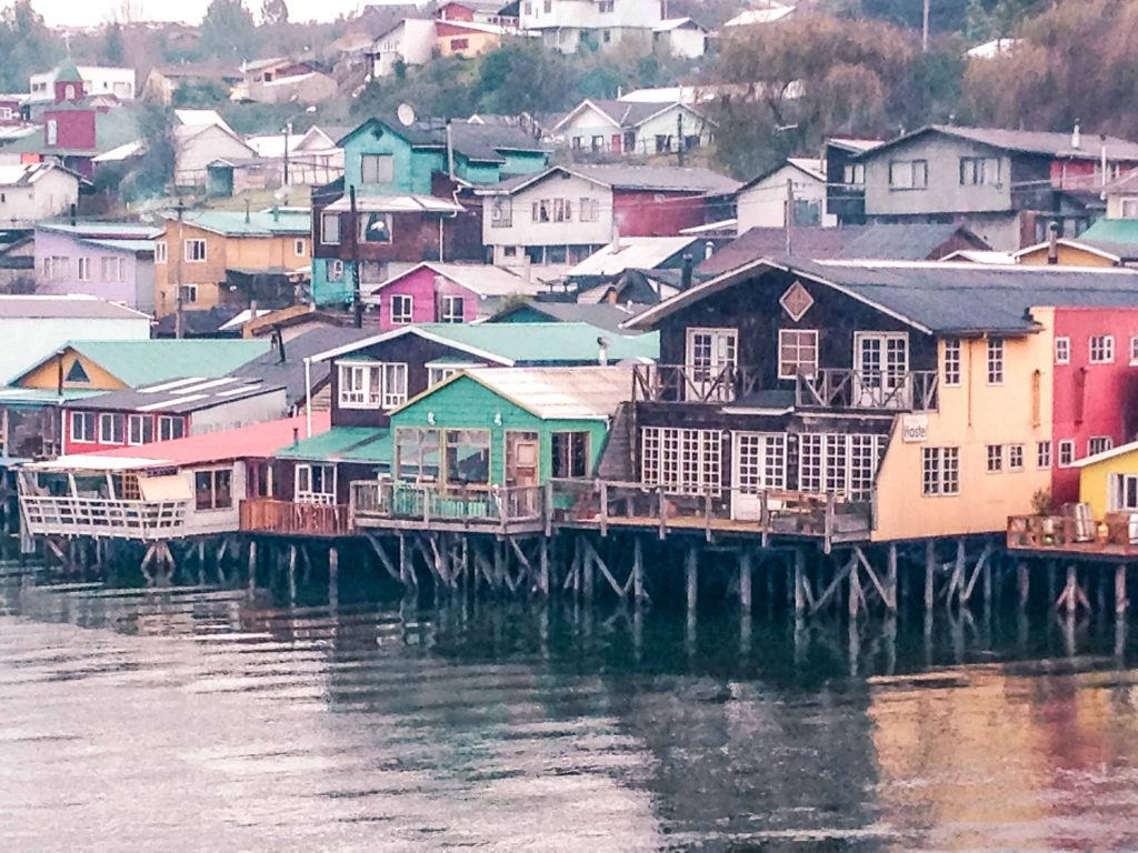 palofito hostel on chiloe island in south chile