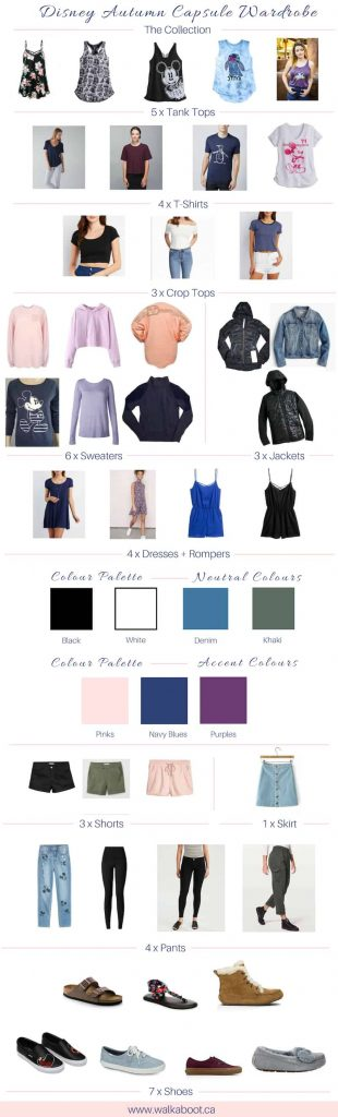 full disney autumn capsule wardrobe