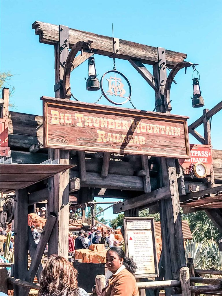 big thunder mountain roller coaster entrance