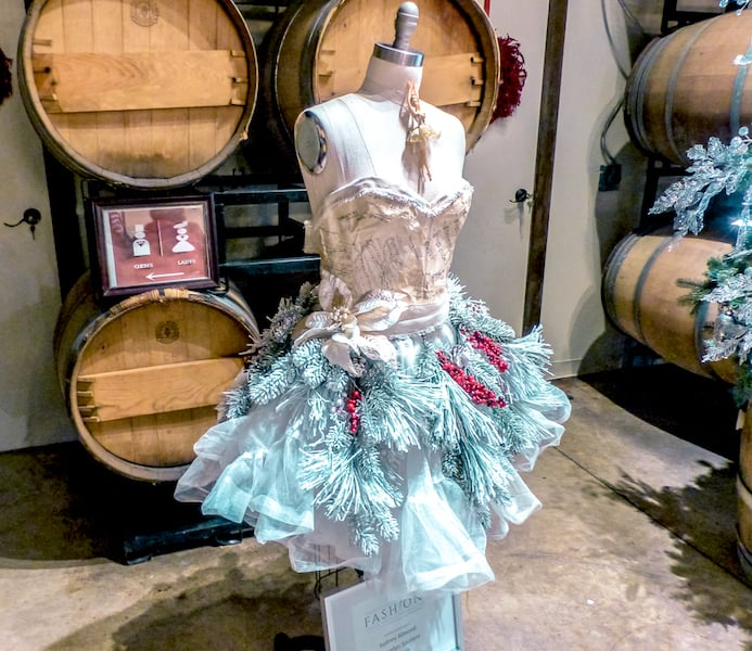 christmas tree dress show at vivace estate winery in windsor county
