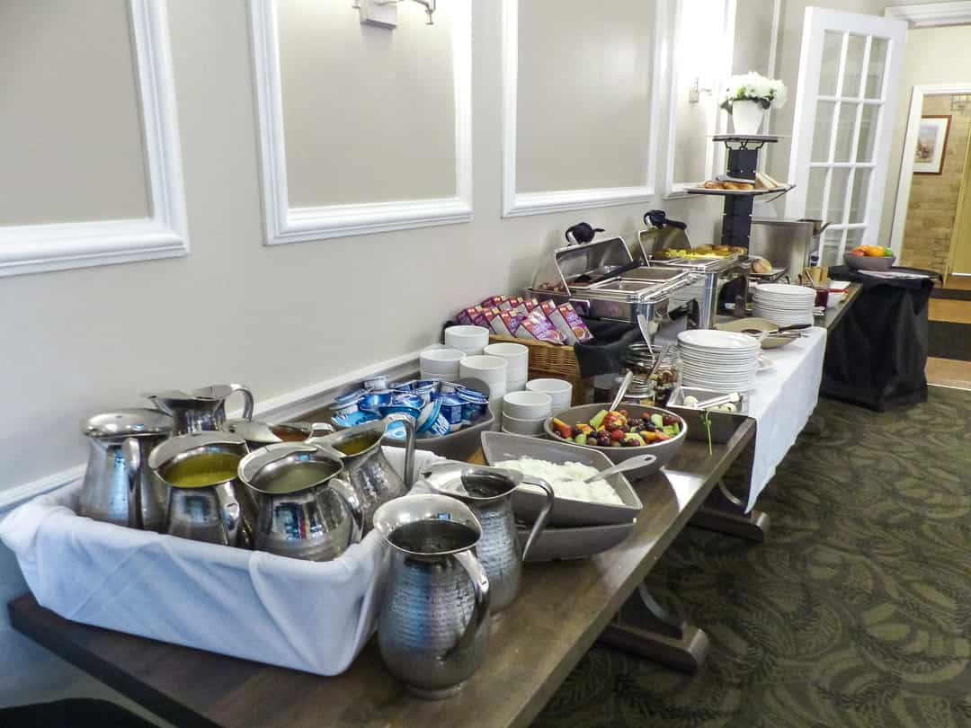 Breakfast buffet at the Elm Hurst Inn and Spa