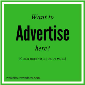 Advertise here o a travel blog