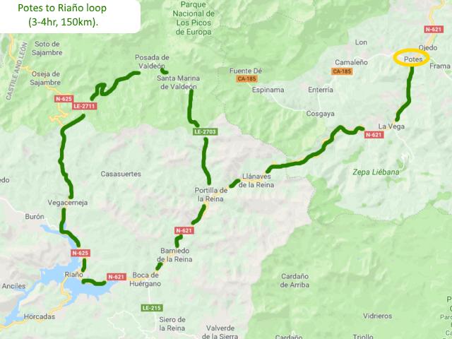 Potes to Riaño loop Picos de Europa Spain Driving route Motorhome Camper van