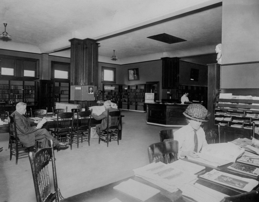 Ashland Library 1912 interior