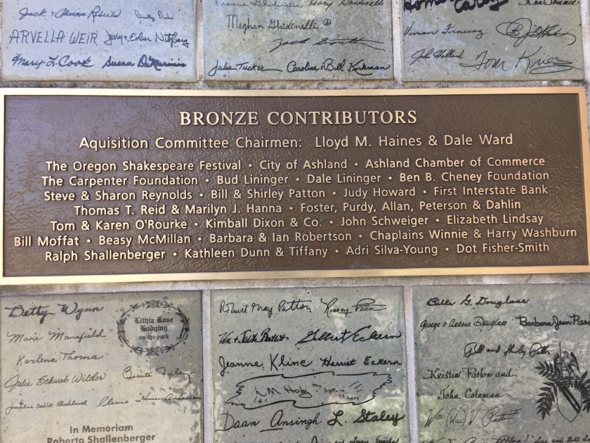 Bronze contributors to Street Scene, plus hundreds more who contributed with lesser amounts.