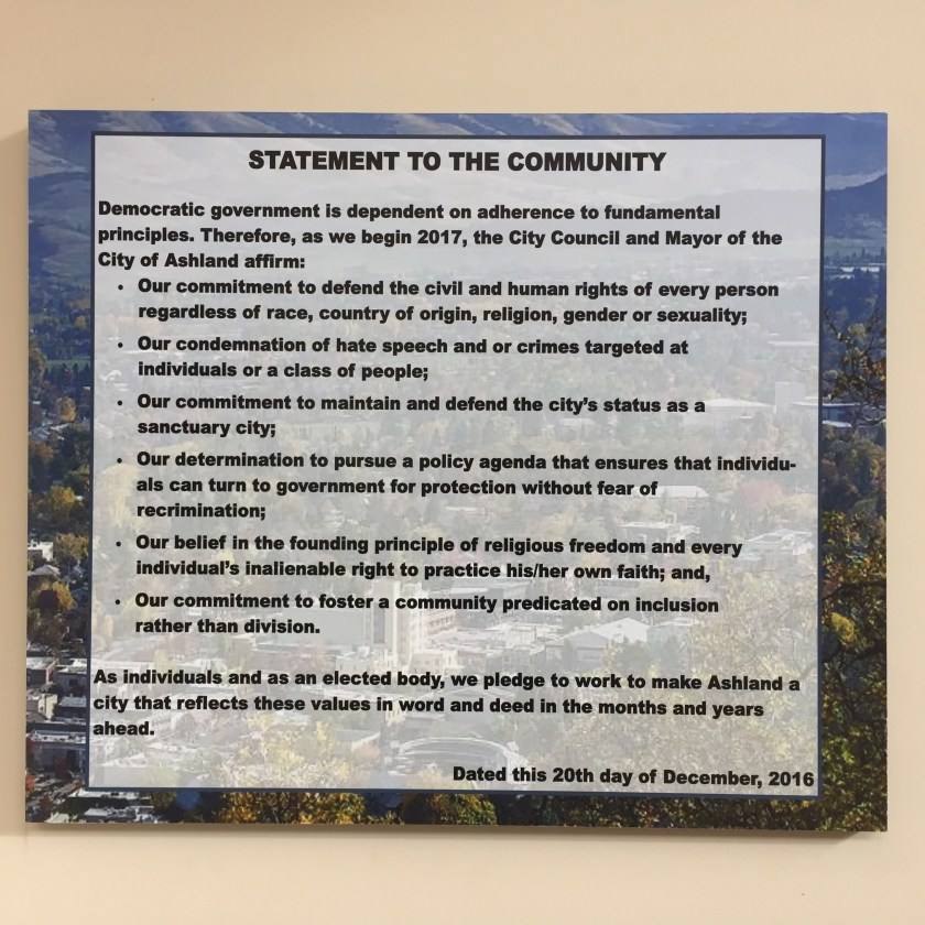 City Council pledge sign
