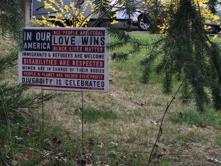 """Love Wins"" sign"
