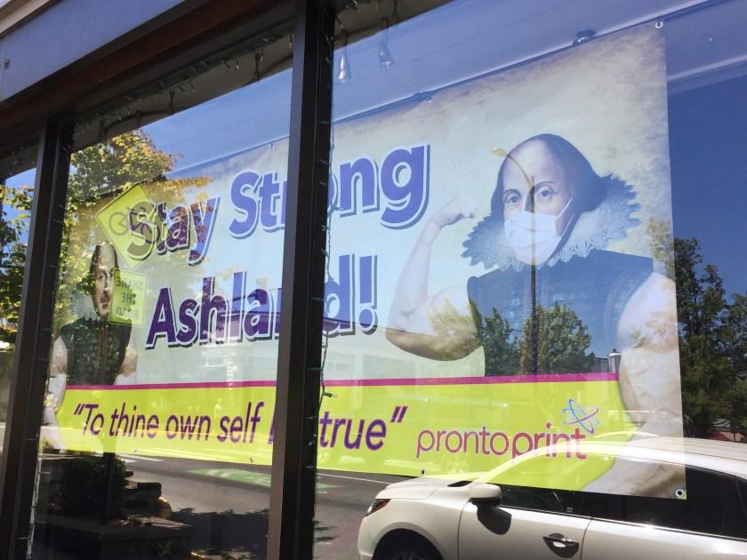 Oregon Shakespeare Festival humorous sign