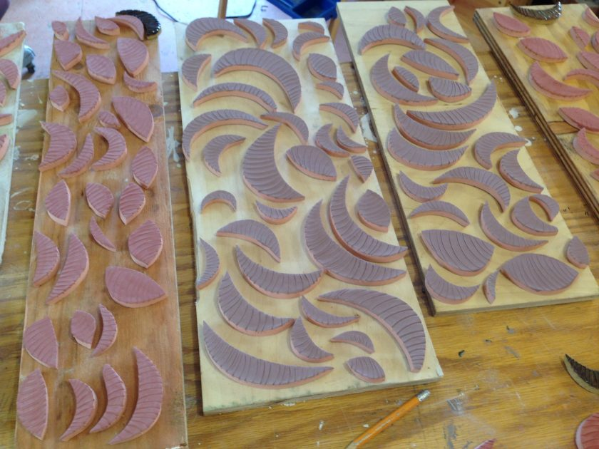 Ceramic tiles made by Jeremy Criswell