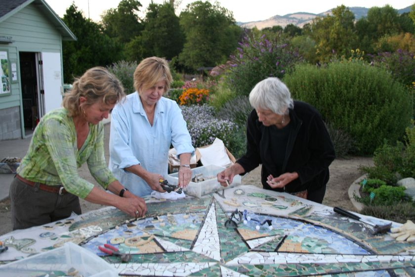 Compass Rose mosaic