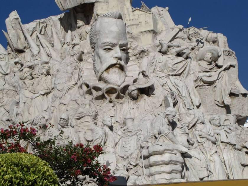 Guanajuato, Mexico - Cervantes sculpture
