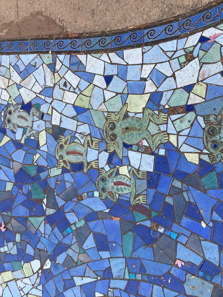 Rio Amistad mosaic art by Sue Springer