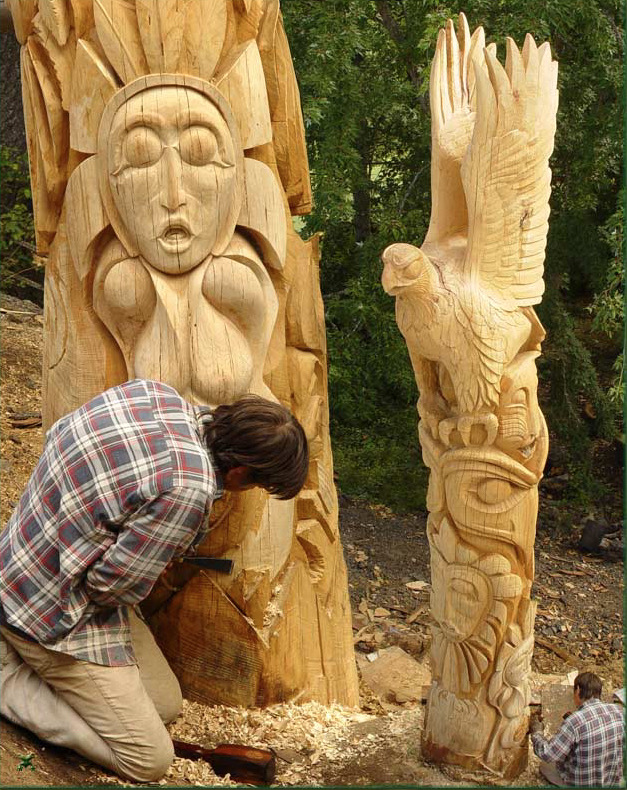 Russell Beebe carving