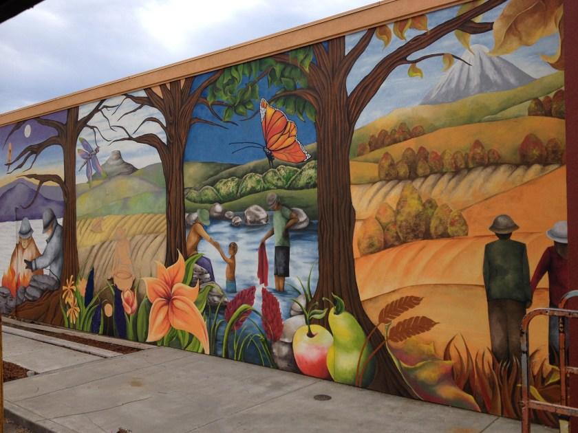 """Seasons of Gratitude"" mural in Ashland"