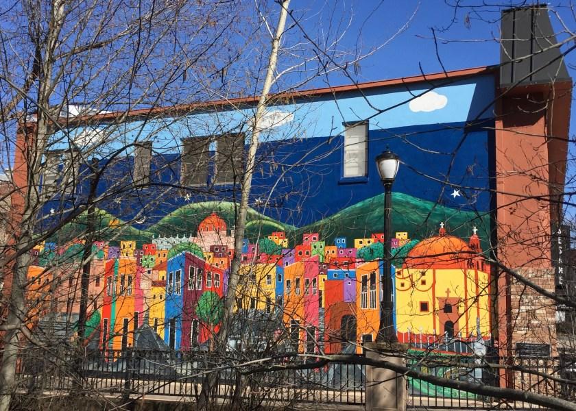 """""""Las Calles de Guanajuato"""" mural in Ashland"""