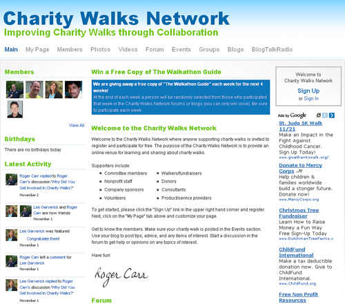 Charity Walks Network