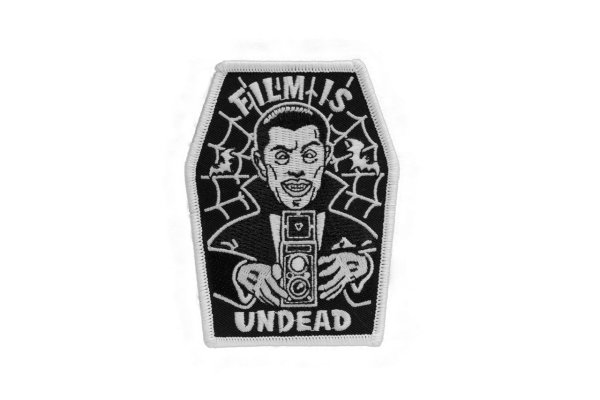 Film Is Undead - Embroidered Patch (Glows in dark!)