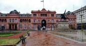 La Casa Rosada and the balcony locale of many of Eva Peron's famous speeches