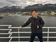 Leaving Ushuaia on the Beagle Channel