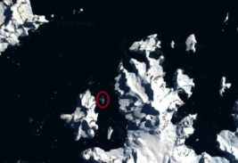 Cuverville Island, in the northern Errera Channel. Image Credit: Google Earth