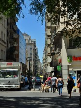 The narrow streets of downtown Buenos Aires