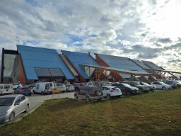 The small domestic airport in Ushuaia