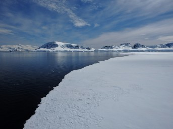 """Fast ice is ice """"held fast"""" to the shoreline"""