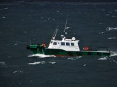 Argentine pilot boat for our trip down the Beagle