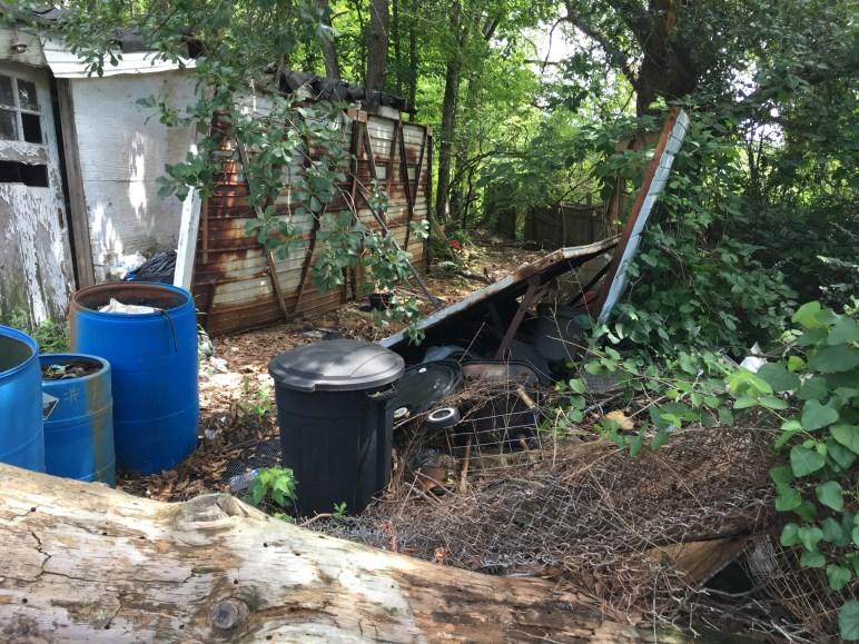 Backyard rubbish